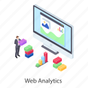 business analytics, business infographic, business statistics, data analytics, web analytics icon