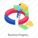 business development, business growth, business improvement, business progress, business promotion icon