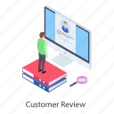 customer assessment, customer evaluation, customer feedback, customer review, customer satisfaction icon