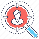 executive search, headhunting, human resource, search employee, staff selection, talent hunting icon