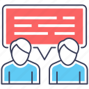 business meeting, collaboration, communication, conversation, discussion, negotiation icon