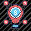 business idea, creative idea, financial idea, idea solution, innovation icon