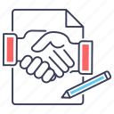 agreement, business clasp, business handshake, contract, deal icon