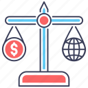 business balance, business scale, equity, financial balance, financial scale, judgement icon