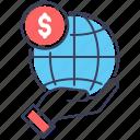 economy, financial network, global finance, global investment, global money, worldwide finance icon
