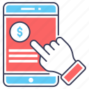 banking app, business app, financial app, mobile app, mobile application icon