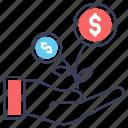 business growth, dollar plant, financial growth, investment growth, money growth, money plant icon