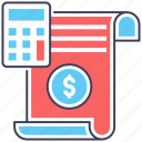 accounting, auditing, budget accounting, calculation, expenses, financial estimate icon