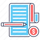 account statement, business report, business statement, financial report, financial statement icon