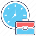 business hours, business time, meeting time, time is money, working hours icon