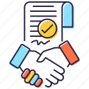 agreement, business deal, business handclasp, business handshake, partnership icon