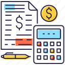 accounting, auditing, budget accounting, calculation, financial estimate icon