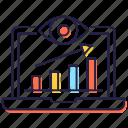 data chart, data monitoring, seo analysis, seo analytics, seo monitoring icon