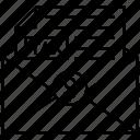 tax envelope, tax letter, tax mail, tax message, tax paper, tax statement icon
