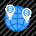 global, globe, world icon