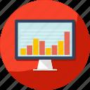 business, chart, data, desktop, finance, graph icon