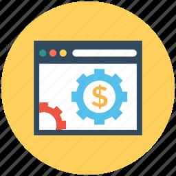 online business, online job, online money, online work, webpage icon