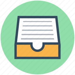 archive, document folder, file folder, file inbox, file storage icon