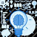 brain, idea, innovation, light, lightbulb, mind, thought