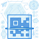 business, clipper, coin, dollar, scan, scanner, tie icon