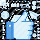 hand, like, media, network, social, thumbs, up