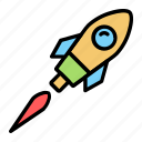 rocket, launch, startup, business