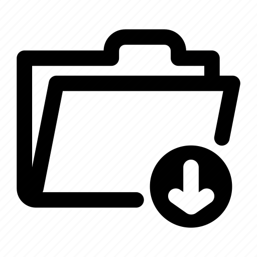 archive, download, folder, open, storage icon