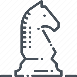 board, chess, decision, game, knight, play, strategy icon