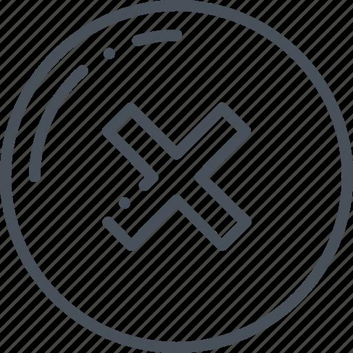 cross, declined, delete, mark, no icon