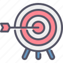 target, arrow, goal, purpose, business
