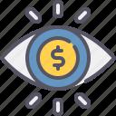 vision, money, eye, business, finance