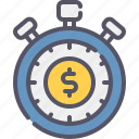 stopwatch, money, time, business, timer