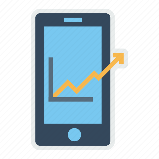 chart, growth, management, marketing, mobile icon