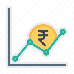 business, chart, graph, growth, indian, money, rupee icon