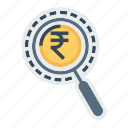 find, investment, investor, market, research, search, vision icon