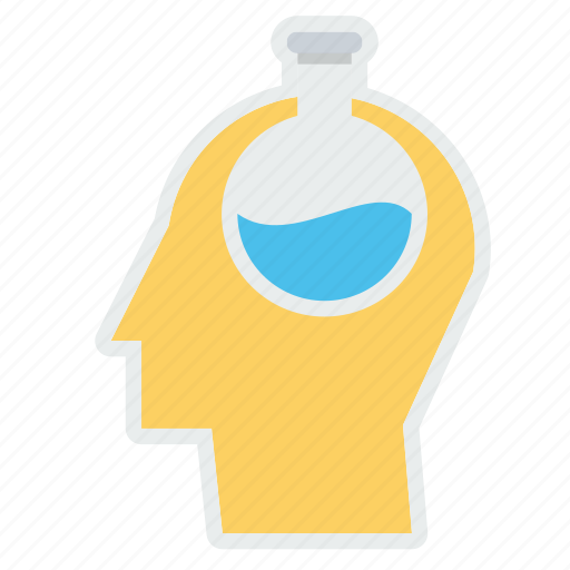 business, experiment, mind, person, research, strategy, vial icon