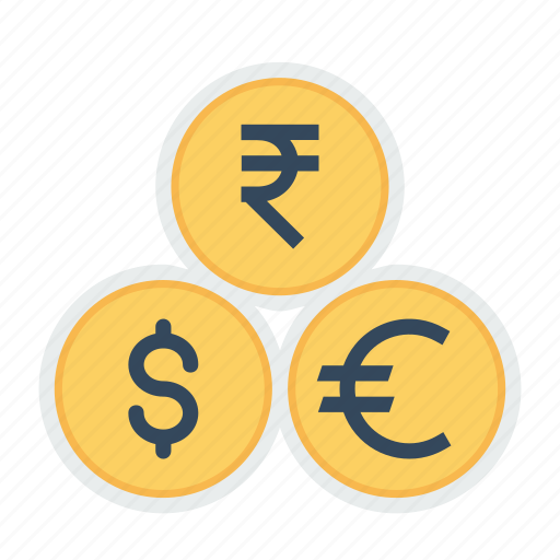 Coin, currency, dollar, euro, indian, money, rupee icon - Download on Iconfinder