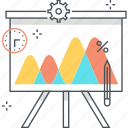 analytics, board, business, chart, graph, presentation, statistics icon