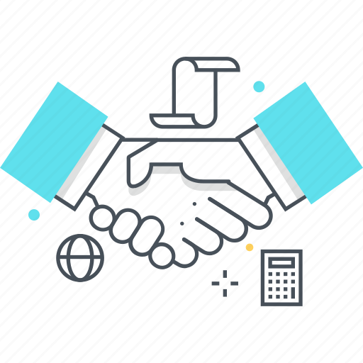 agreement, business, hand, sell, shake icon