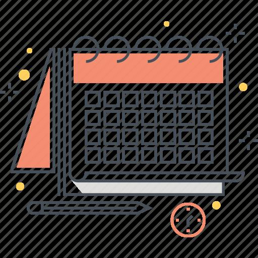 calendar, calendars, clock, organization, time, tool, tools icon