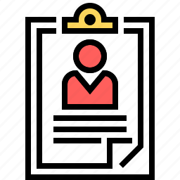 business, checklist, checkmark, clipboard, management, manager, personal information icon