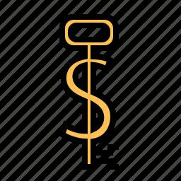 key, key to success, making money, secret, secure, success, wealth icon