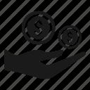 donate, investment, profit icon