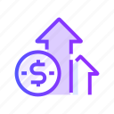 business, finance, graph, growth, marketing icon