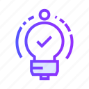 bulb, business, idea, innovation, light icon