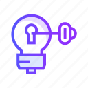 creative, design, idea, key, shape icon