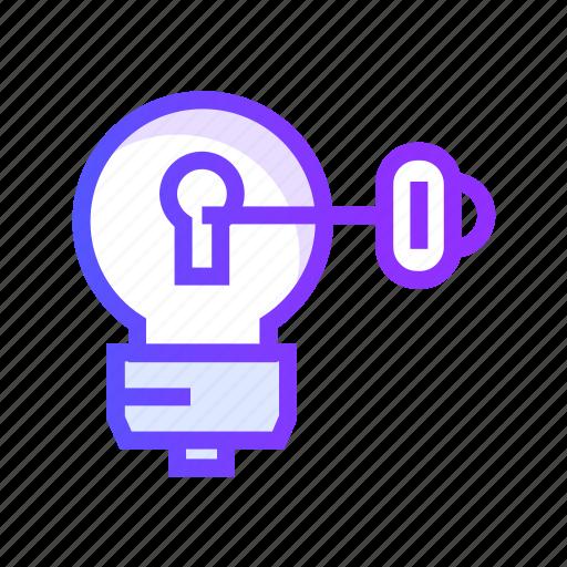 creative, design, idea, key, shape icon