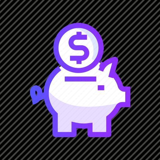 bank, business, finance, money, piggy icon