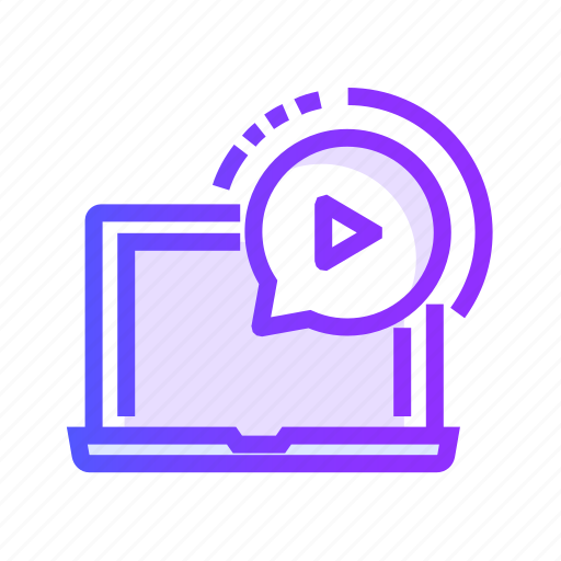 communication, interface, message, video icon