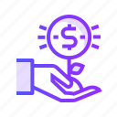 currency, dollar, finance, value icon
